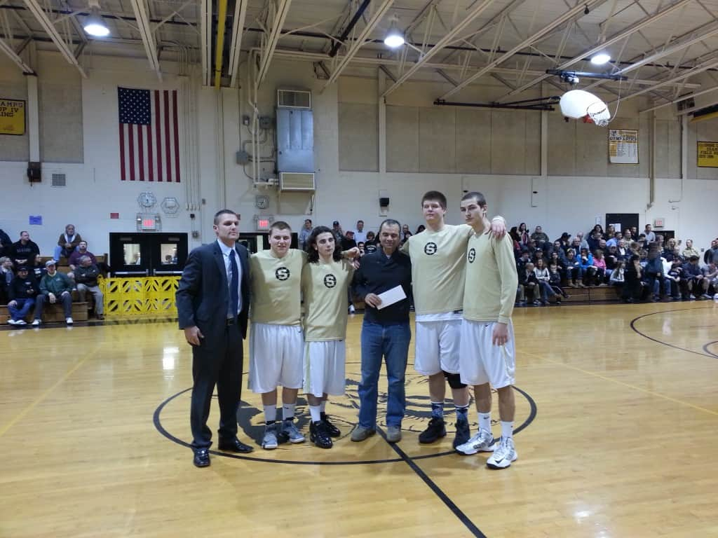 Southern Regional HS BBall Donation to DDBCF